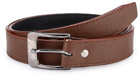 Men's Leather Brown Synthetic Casual Belt