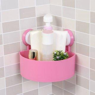 ShopAIS Plastic Interdesign Bathroom Kitchen Storage Organize Shelf Rack Triangle Shower Corner Caddy Basket