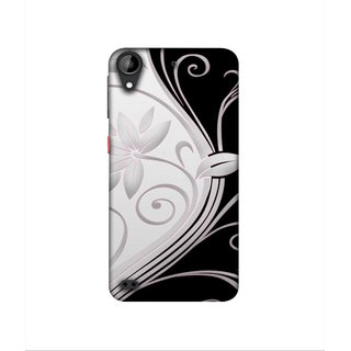 Casotec Black And White Design 3D Printed Hard Back Case Cover for HTC Desire 630