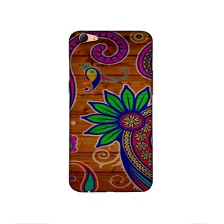Casotec Pattern Texture Colorful Background Design 3D Printed Hard Back Case Cover for Oppo R9s