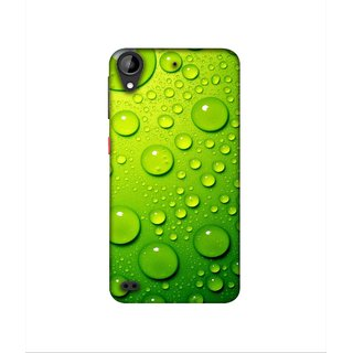 Casotec Green Bubbles Design 3D Printed Hard Back Case Cover for HTC Desire 630