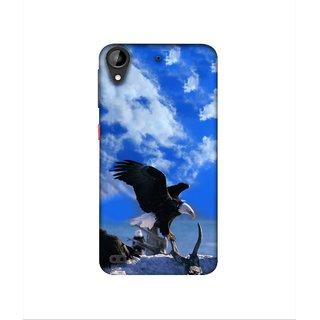 Casotec Extended Eagles Design 3D Printed Hard Back Case Cover for HTC Desire 630