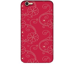 Casotec Floral Red White Design 3D Printed Hard Back Case Cover for OPPO A39