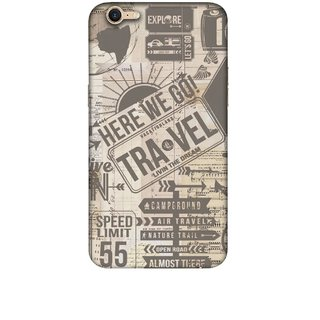 Casotec Travel Design 3D Printed Hard Back Case Cover for OPPO A39