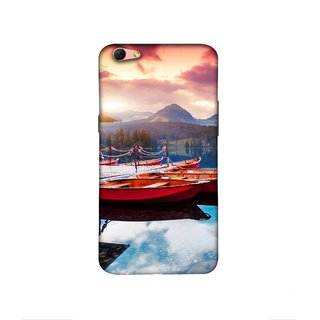 Casotec Sunset Sea Design 3D Printed Hard Back Case Cover for Oppo R9s Plus