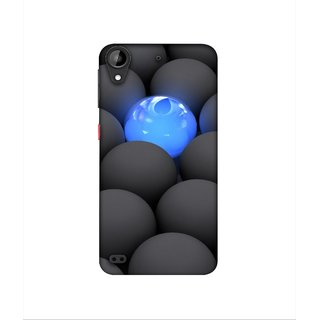 Casotec Balls Dark Neon Sight Surface Design 3D Printed Hard Back Case Cover for HTC Desire 630