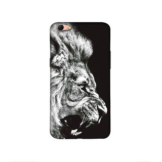 Casotec Angry Lion Design 3D Printed Hard Back Case Cover for Oppo R9s Plus