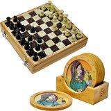 Buy Real Marble Chess Board N Get Tea Coasters Free