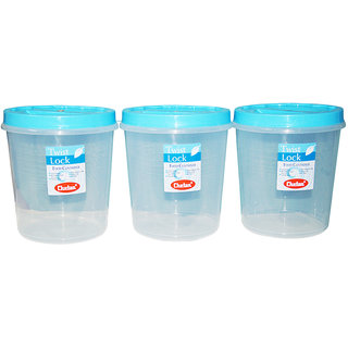 CHETAN 3 PC 10 LTR TWIST LOCK CONTAINER @ RS.950.00 DELIVERY FREE