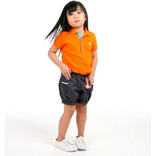 CHERRY CRUMBLE Soft ORGANIC Cotton Polo Shirt For Girl