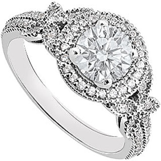 Diamond Engagement Ring 14K White Gold 0.80 CT TDW (Option - 3)
