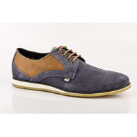ID Men's Blue & Tan Lace Up Casual Shoes