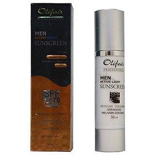 Olifair Men Active Light Sunscreen Spf 70