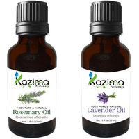 Combo Set Of Rosemary Oil And Lavender Essential Oil (For Hair Loss Treatment, Promotes Hair Growth, Skin, ACNE)