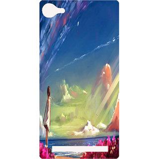Amagav Printed Back Case Cover for Lava X17 148LavaX17