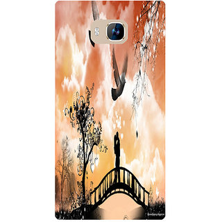 Amagav Printed Back Case Cover for Lyf Wind 2 37LfyWind2