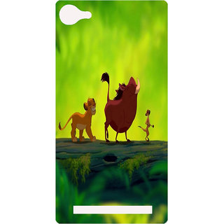 Amagav Printed Back Case Cover for Lyf Wind 1 145LfyWind1