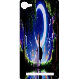 Amagav Printed Back Case Cover for Lava X17 57LavaX17
