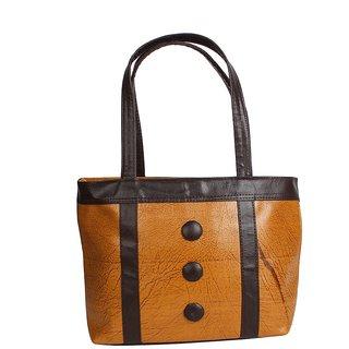 D-Rock Beige Plain Handbag