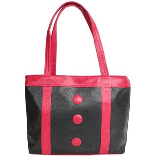 D-ROCK Black Solid/Plain Casual Handbag