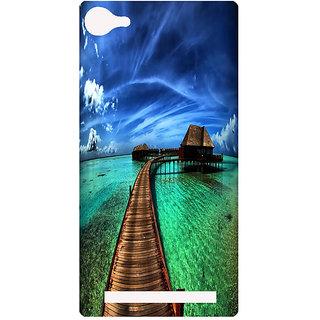 Amagav Printed Back Case Cover for Lyf Wind 1 29LfyWind1