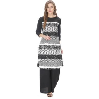 SwaggClothing Women's Crepe Long Kurti