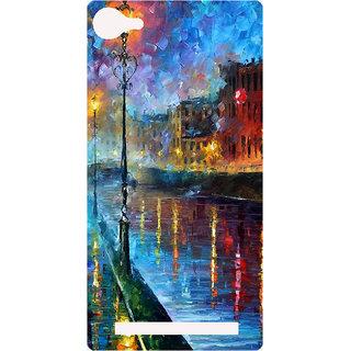 Amagav Printed Back Case Cover for Lyf Wind 1 563LfyWind1