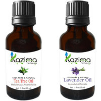 Combo Set Of Lavender Oil And Tea Tree Essential Oil (For Hair Loss Treatment, Promotes Hair Growth, Skin, ACNE)