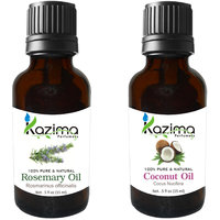 Combo Of Coconut Cold Pressed Oil And Rosemary Essential Oil (For Hair Loss Treatment, Promotes Hair Growth, Skin, ACNE)