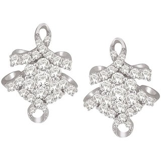 Lucera Rhodium Plated White Sterling Silver Earring For Women-EF8946