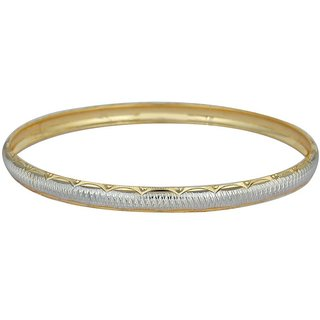 Vivaaha Rhodium Plated Yellow Sterling Silver Bangle For Women-GF22931