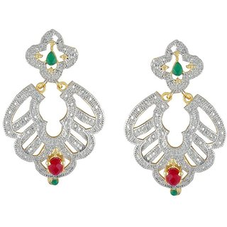 Kashvi Rhodium Plated Yellow Brass & Copper Earring For Women-EF27705