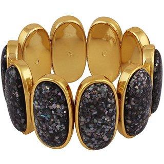 Donatella Rhodium Plated Yellow Bangles For Women-BF28698