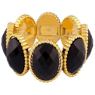 Donatella Rhodium Plated Yellow Bangles For Women-BF28774