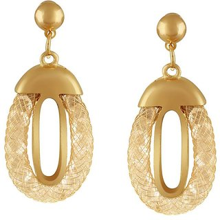 Tichino Rhodium Plated Yellow Brass & Copper Earring For Women-EF28251