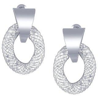 Tichino Rhodium Plated White Brass & Copper Earring For Women-EF28241