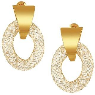 Tichino Rhodium Plated Yellow Brass & Copper Earring For Women-EF28242