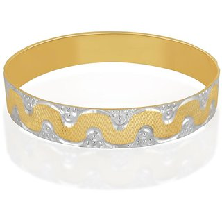 Vivaaha Rhodium Plated Yellow Sterling Silver Bangle For Women-GF22920