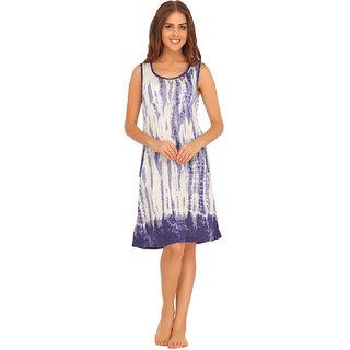 Buy Clovia Blue Cotton Plain Night Gowns   Nighty Online - Get 45% Off fa7b4d901