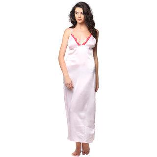 b8fed5c9fb Buy Clovia Pink Satin Plain Night Gowns   Nighty Online - Get 70% Off