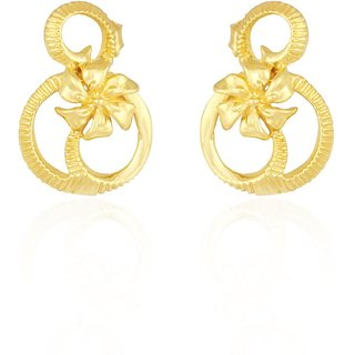 Lucera Rhodium Plated Yellow Sterling Silver Earring For Women-EF24335