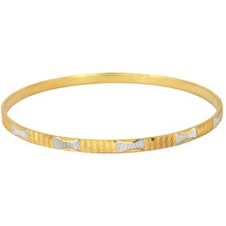 Vivaaha Rhodium Plated Yellow Sterling Silver Bangle For Women-GF22926
