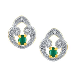 Kashvi Rhodium Plated Yellow Brass & Copper Earring For Women-EF28174