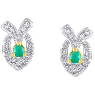 Kashvi Rhodium Plated Yellow Brass & Copper Earring For Women-EF28184