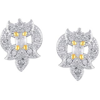 Kashvi Rhodium Plated Yellow Brass & Copper Earring For Women-EF28175