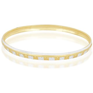 Vivaaha Rhodium Plated Yellow Sterling Silver Bangle For Women-GF22376
