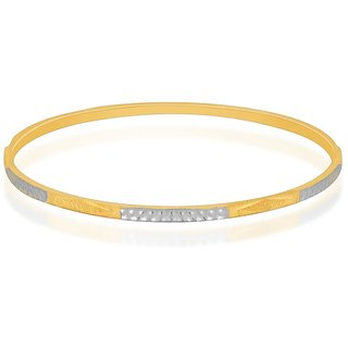 Vivaaha Rhodium Plated Yellow Sterling Silver Bangle For Women-GF22378