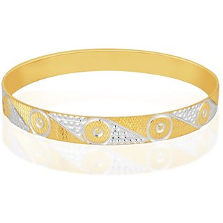 Vivaaha Rhodium Plated Yellow Sterling Silver Bangle For Women-GF22919