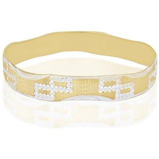 Vivaaha Rhodium Plated Yellow Sterling Silver Bangle For Women-GF23973