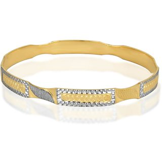 Vivaaha Rhodium Plated Yellow Sterling Silver Bangle For Women-GF23974